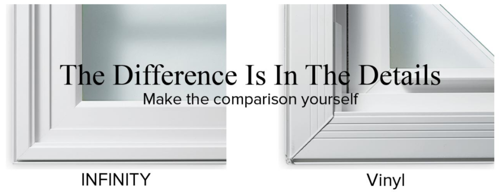 Compare Infinity windows to vinyl