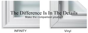 Compare Infinity windows to vinyl