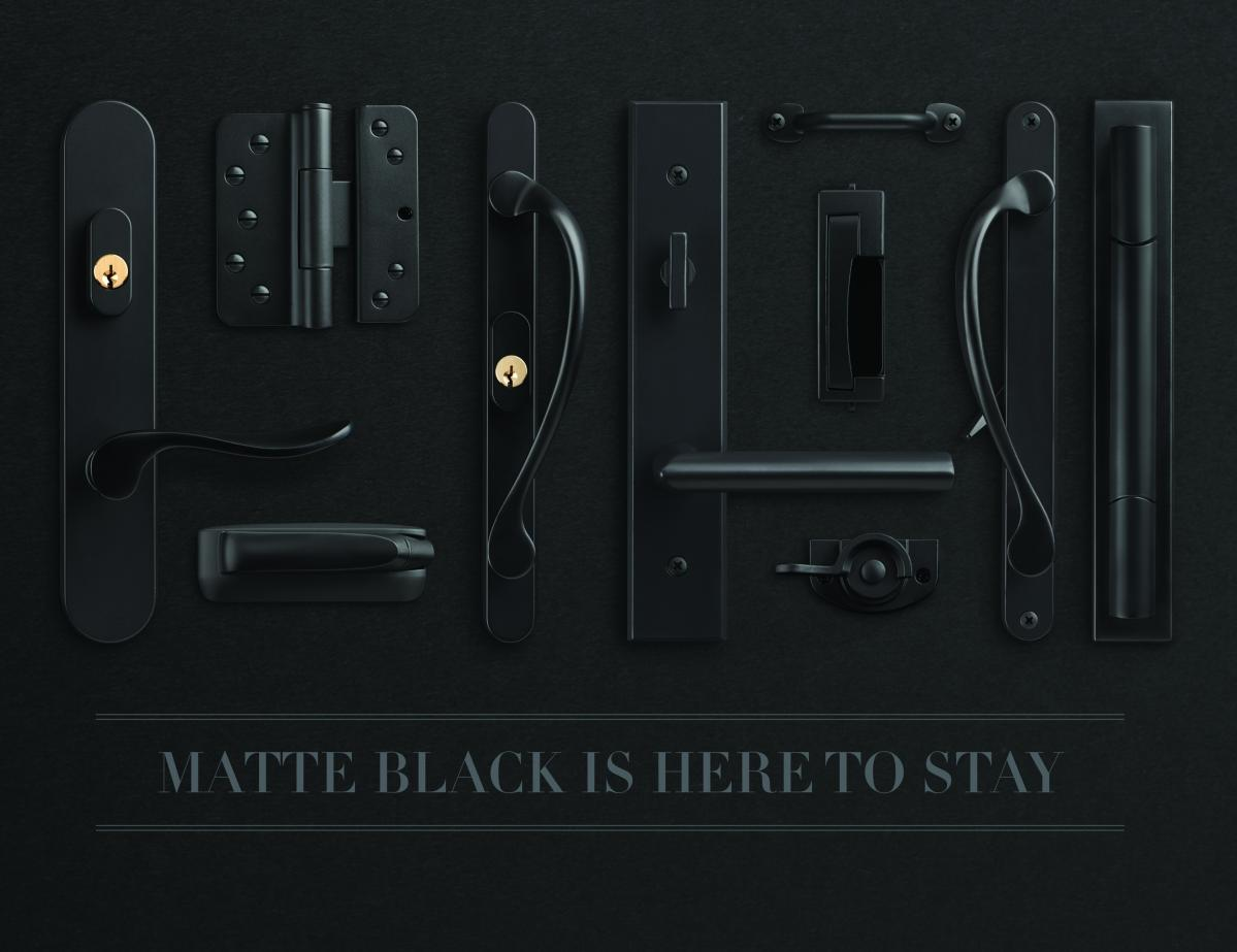 Matte Black Hardware Marvin Doors