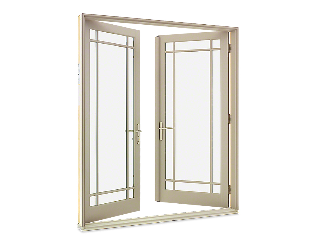 Fiberglass french doors gravina s window center of for French doors exterior inswing