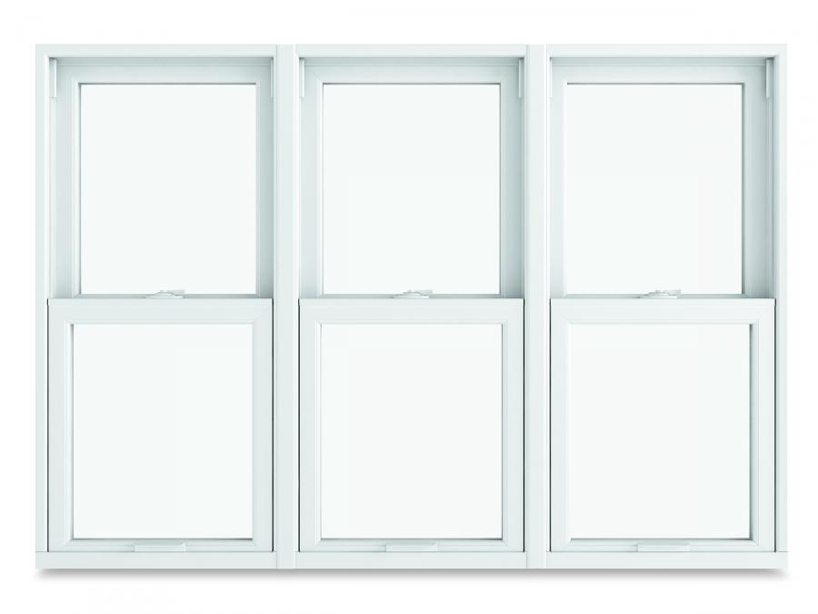Double Hung Window - 3 Wide Mull