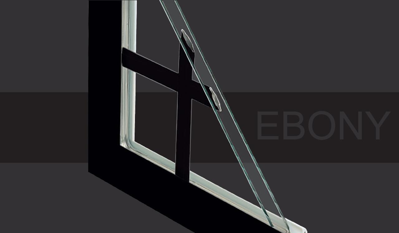 modern black windows