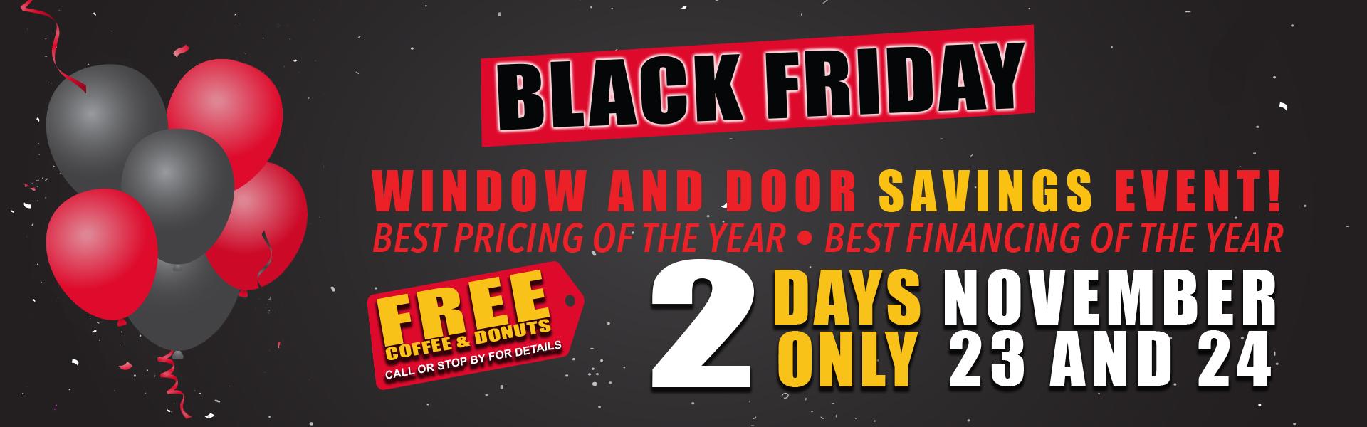 2018 Black Friday Window and Door Savings Event