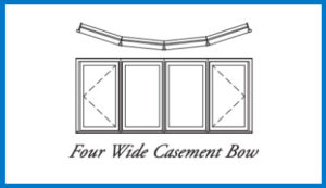 4 wide bow window